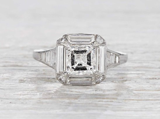 1.26 CARAT ART DECO period ENGAGEMENT RING