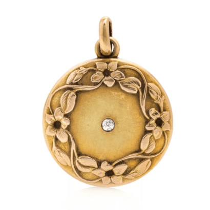 14kt-Rose-Gold-Art-Nouveau-Diamond-Locket