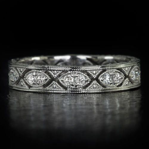 Art Deco Eternity Diamond Engagement Ring