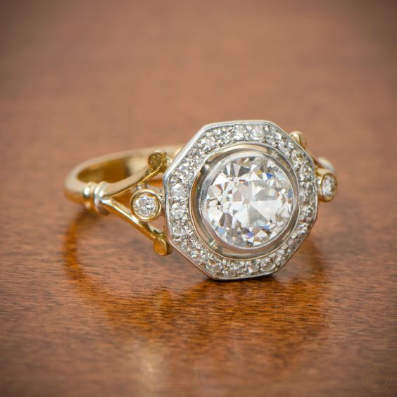 EDWARDIAN HALO ENGAGEMENT RING