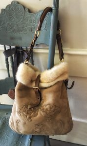 Prada Shearling and Mink Shoulder Bag (Estate)