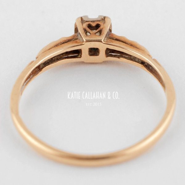 Old European Cut Diamond 14kt Yellow Gold Engagement Ring (Antique)