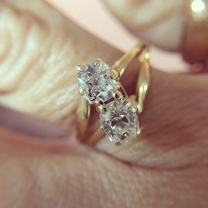Victorian Old Mine Cut Diamond Toi et Moi Ring (Antique)