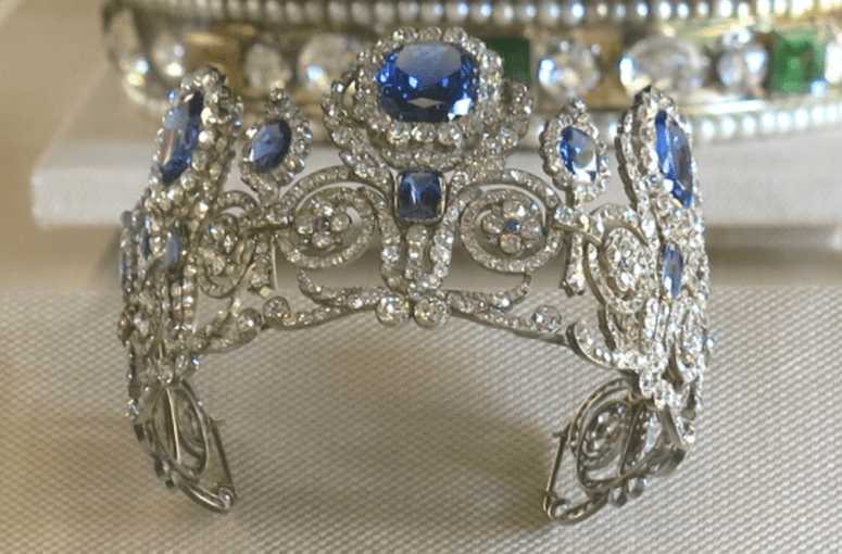 Royal French Tiaras: Marie-Amelie's Diamond and Sapphire Tiara
