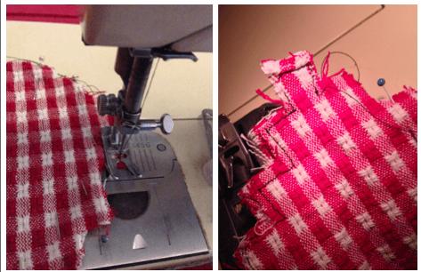 half stitched