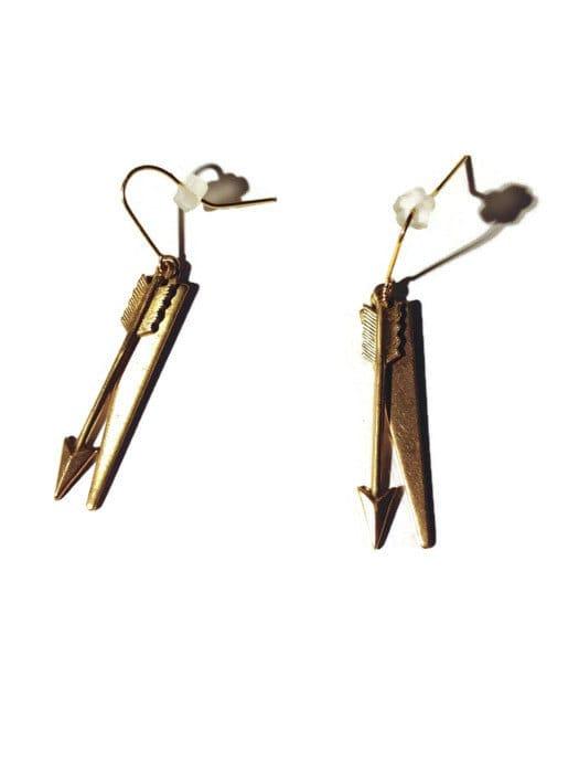 Arrow Dangle Earrings by Katie Crafts on Etsy
