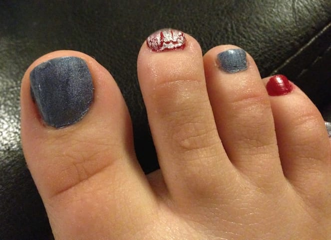 4th of July Nail Art Designs by Katie Crafts; http://www.katiecrafts.com
