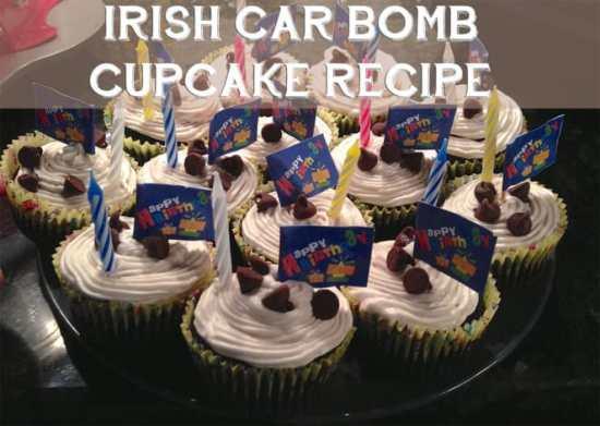 Irish Car Bomb Cupcake Recipe by Katie Crafts; http://www.katiecrafts.com