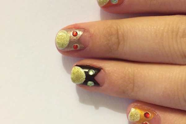 Autumn Owls Nail Art Tutorial by Katie Crafts; https://www.katiecrafts.com