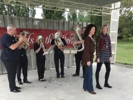 Practising for Carols in the park - Tuggeranong 2016