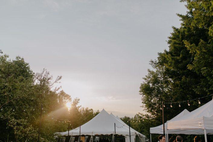 underhill vermont squabetty tented wedding with bistro lights