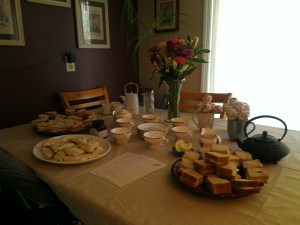 Mother's Day tea tasting.
