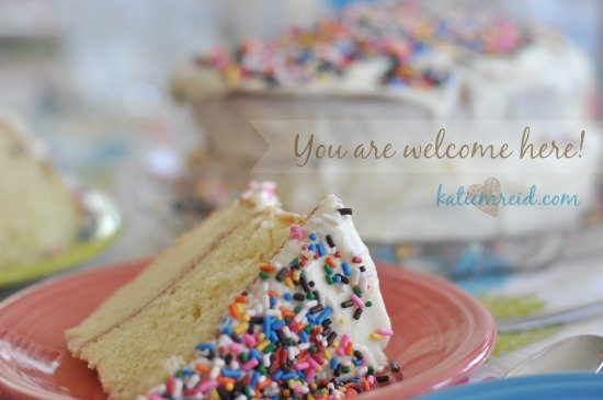 welcome cake for katie m. reid website
