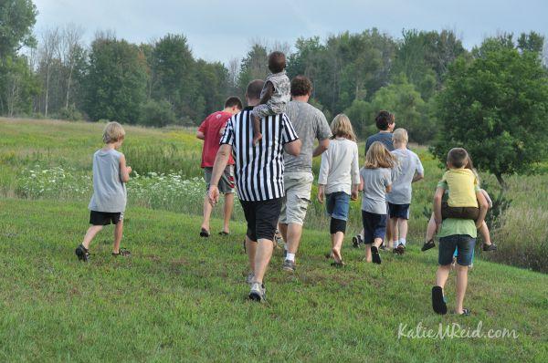 Kids walking by Katie M Reid