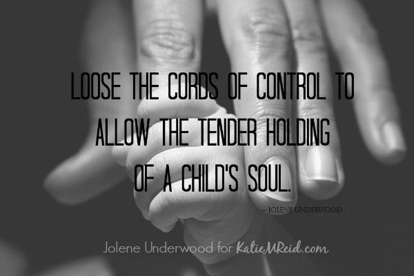 Loosen the cords of control by Jolene Underwood