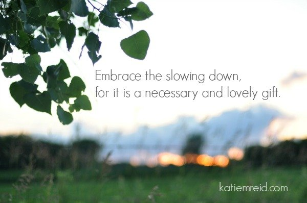 Embrace the slowing down by Katie M. Reid Photography