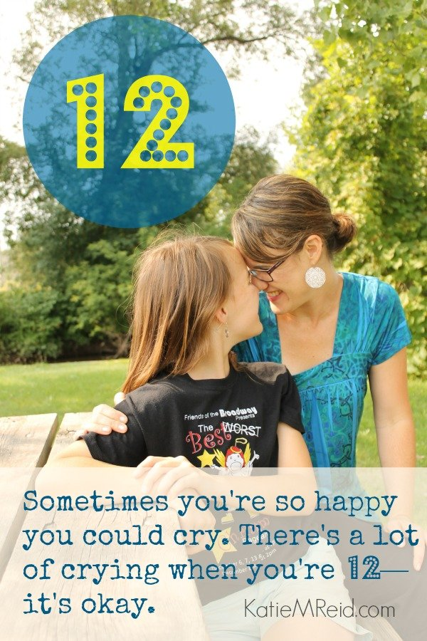 Crying when you're 12 by Katie M. Reid