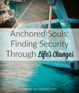 Anchored souls series by author and speaker Abby McDonald