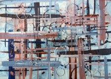 Blue and Orange Grid - Katiepm