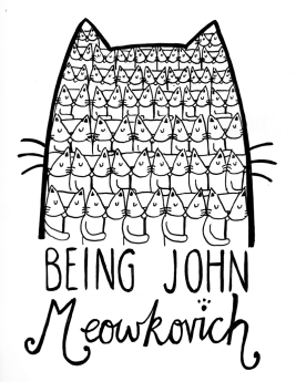 Being John Malcovich cat pun illustration