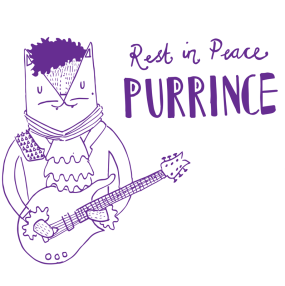 The Artist formally known as Prince cat pun illustration