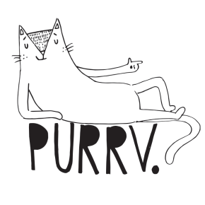 Pervert cat pun illustration