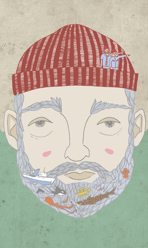 the life aquatic illustration vhs design not for rental project exhibition wes anderson