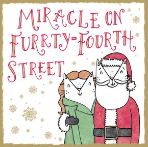 Miracle on 34th Street cat pun illustration