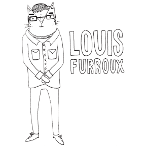 Louis Theroux cat pun illustration