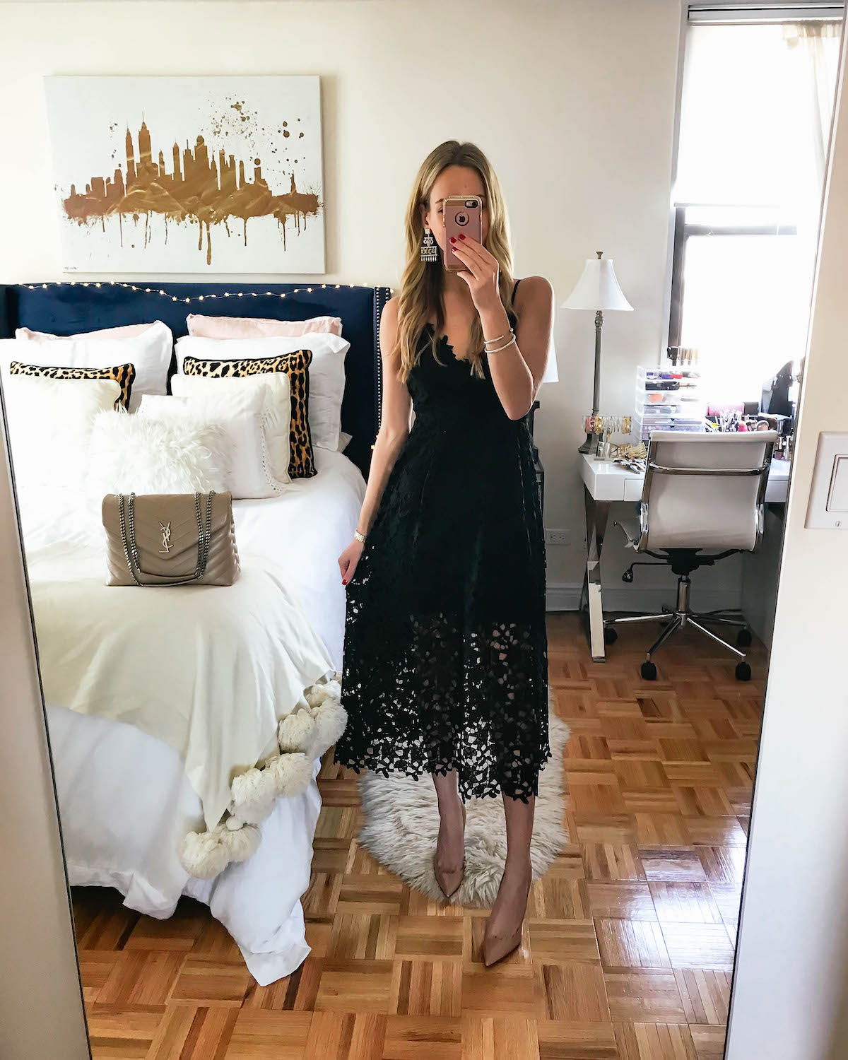 ASTR The Label Lace Midi Dress Katies Bliss