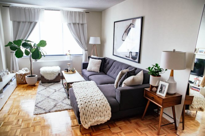 New York City Apartment Tour Living Room Kitchen