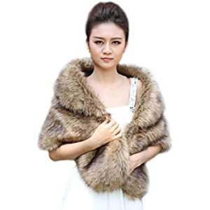 Brown Faux Fur Wrap