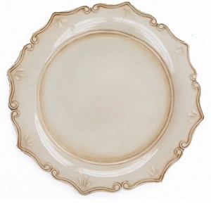 Acrylic Charger – Antique Dark Ivory