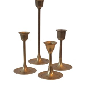 Assorted Brass Candlesticks – Modern Thin Stemmed