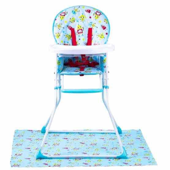 RedKite Feed Me Compact Baby Highchair Inc Splash Mat – Blue Robots