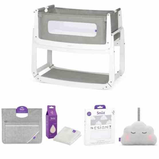 SnuzPod3 Bedside Crib 3 in 1 Package – Dusk