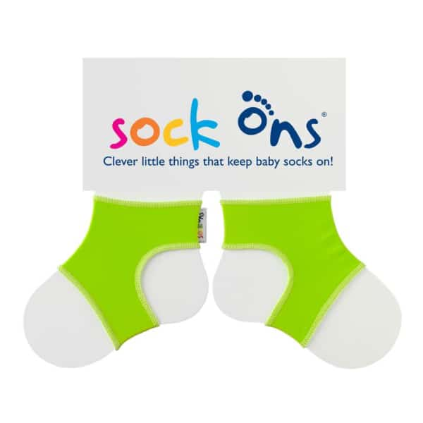 Sock Ons Lime Green (0-6 Months)