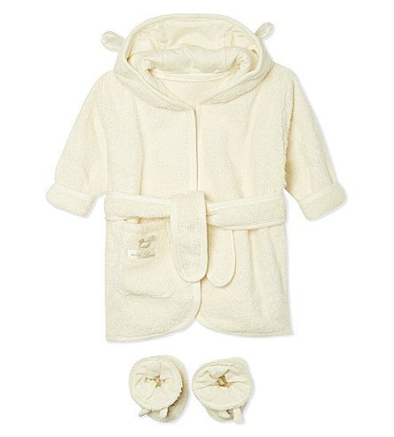 Natures Purest Pure Love Bathrobe & Slippers 0-6 Months