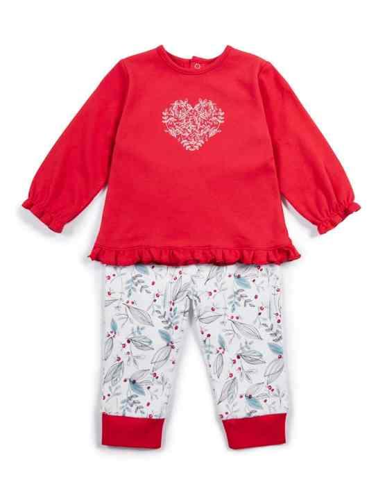 Mamas & Papas Christmas Wreath Embroidered Pyjamas