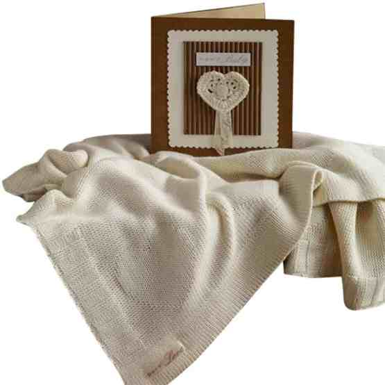 Natures Purest Pure Love Bamboo Heart Greeting Blanket