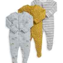 3 Pack Safari Print Sleepsuit