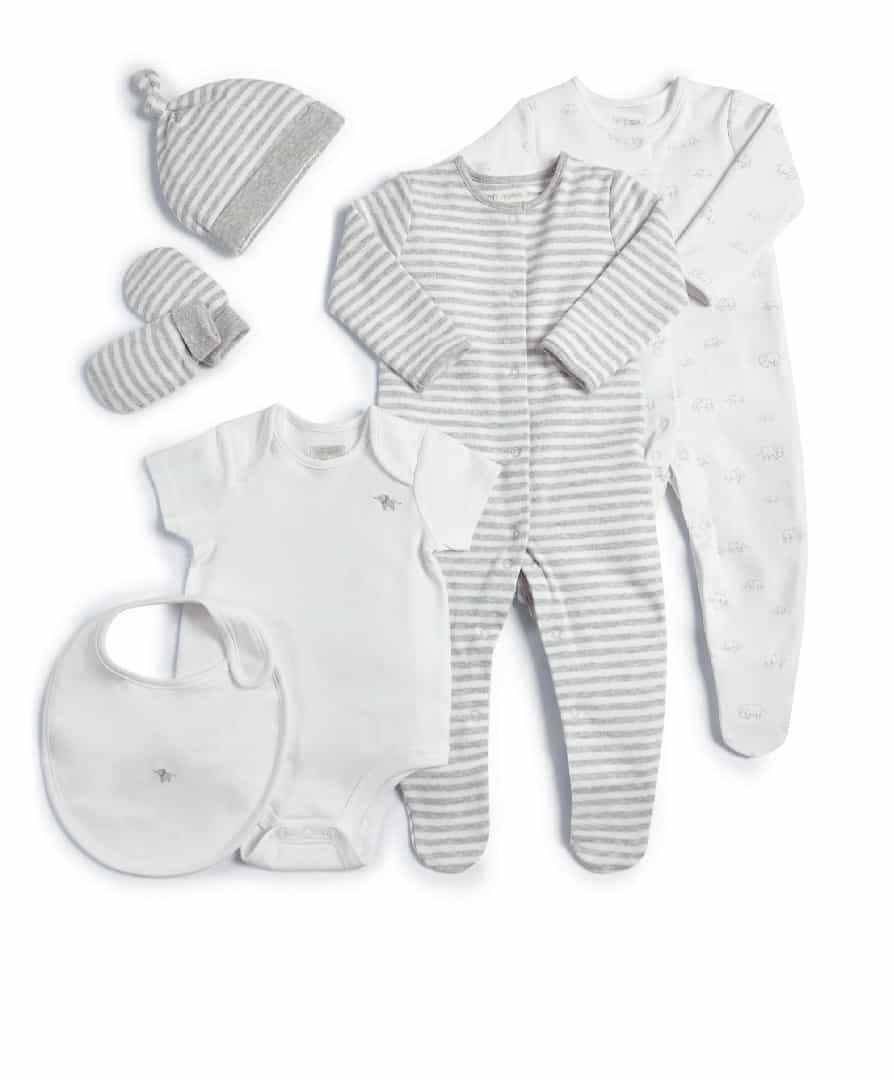 Mamas & Papas Welcome To The World 6 Piece Clothing Gift Set- White