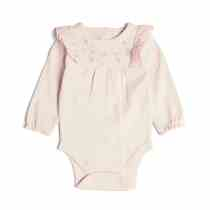 Pink Embroidered Body Suit