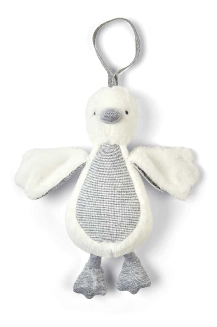 Mamas & Papas Welcome To The World Chime Duck- Grey