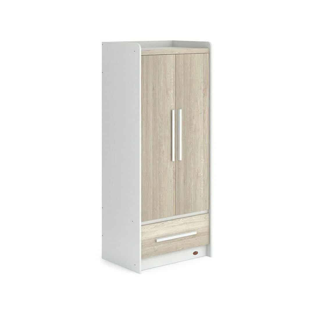 Ex-Display Boori Neat 2 Door Wardrobe- White/Oak