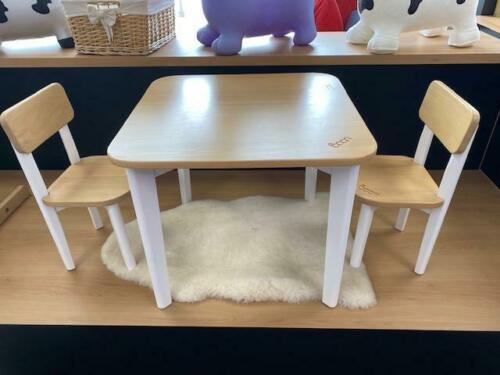 Ex-Display Boori Tidy Table Plus 2 Chairs- White/Almond