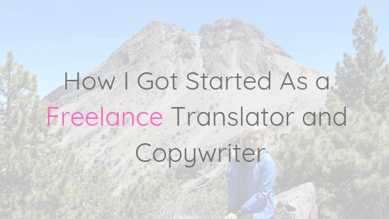 Freelance Translation and Copywriting