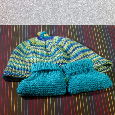 Hat and Booties for Desmond