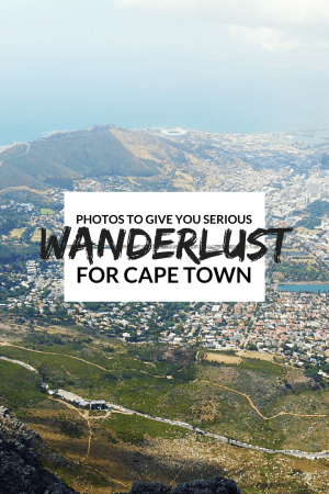 it's easy to see why Lonely Planet named Cape Town as one of its 2017 top cities when the city and surrounding coast are as photogenic as this.