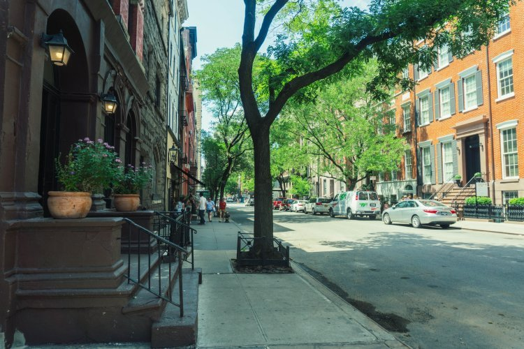 Image of residential street in Greenwich Village New York